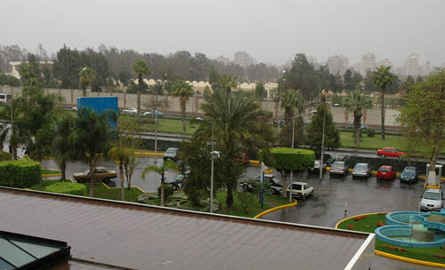 Rain in Cairo - March 9, 2005. Photo by Ferrell Jenkins.