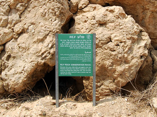 PEF sign at the Dead Sea. Photo by Ferrell Jenkins.