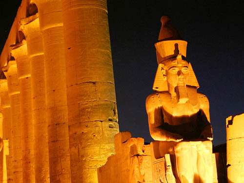 Court of Rameses II in the Luxor Temple. Photo by Ferrell Jenkins.