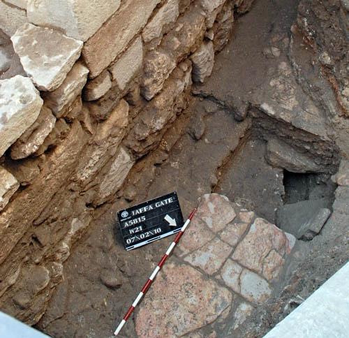 Remains of 1500 year old street. Photo: Assaf Peretz, IAA.