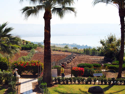 View east across the Sea of Galilee from Mount of Beatitudes. Photo by Ferrell Jenkins.