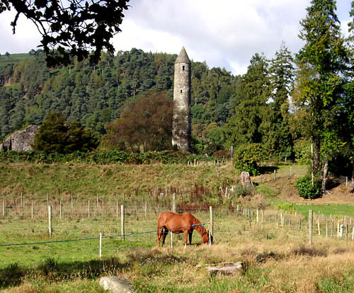 Pastoral scene at Glendalough, Ireland. Photo by Ferrell Jenkins.