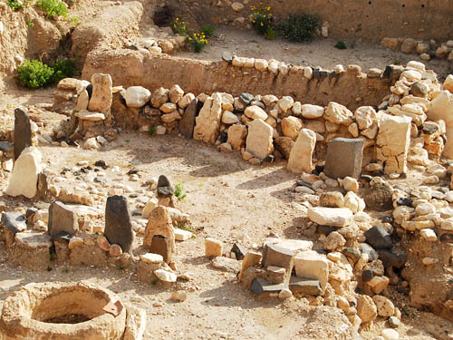 Middle Bronze Age cultic complex at Hazor. Photo by Ferrell Jenkins.