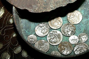 Hellenistic coins from discovered in northern Syria.