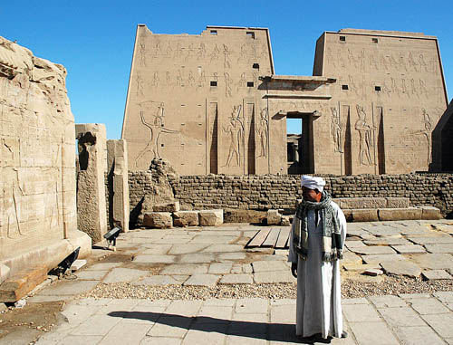 The Edfu Temple begun by Ptolemy III. Photo by Ferrell Jenkins.
