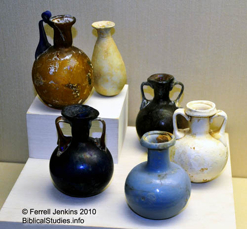 Perfume Bottles at Eretz Israel Museum at Tel Aviv University