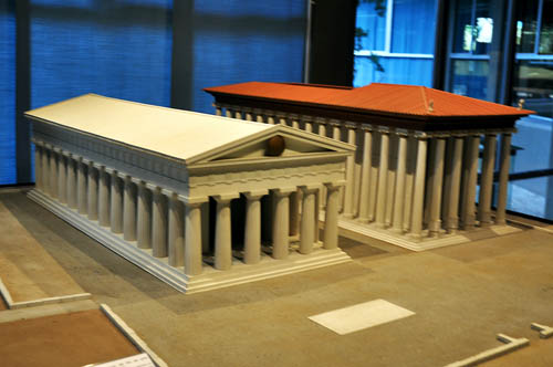 Temple models at Syracuse, Sicily, archaeological museum.