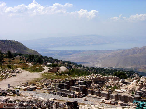 The Sea of Galilee from Umm Qais (Gadara). Photo by Ferrell Jenkins.