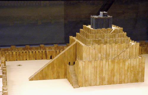 Ziggurat Model at the Pergamum Museum, Berlin. Photo by Ferrell Jenkins.