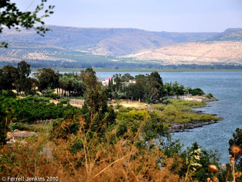 Capernaum from the Hill Above. Photo by Ferrell Jenkins.
