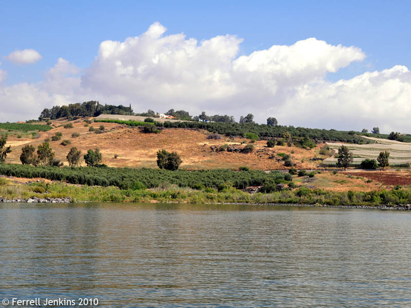 Cove of the Sower From the Sea of Galilee by Ferrell Jenkins.