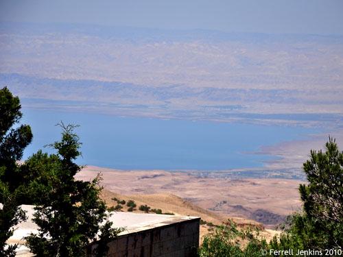 The Dead Sea as seen from Mount Nebo. Photo by Ferrell Jenkins.