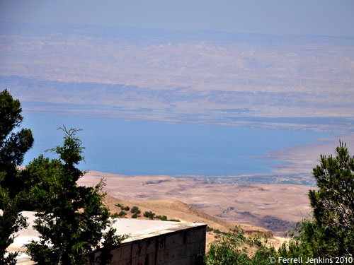 The Dead Sea as seen from Mount Nebo. Photo by Ferrell Jenkins.