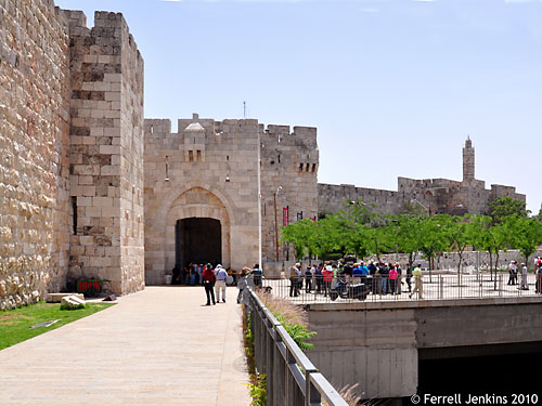 Jaffa Gate - Newly renovated 2010. Photo by Ferrell Jenkins.
