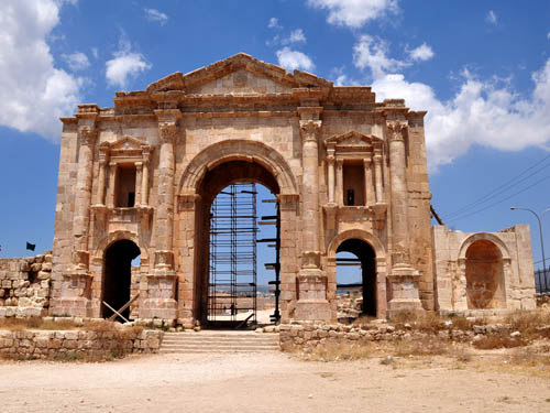 Hadrian's Monumental Arch at Jerash. Photo by Ferrell Jenkins.