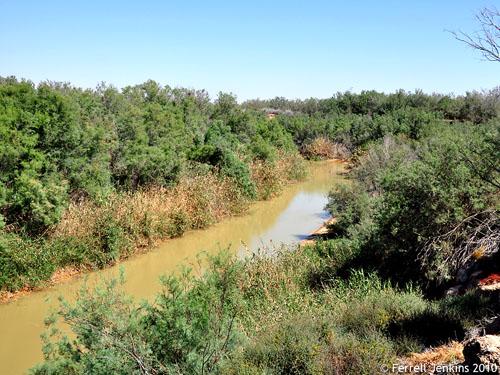 Jordan River at Bethany Beyond the Jordan. Photo by Ferrell Jenkins.