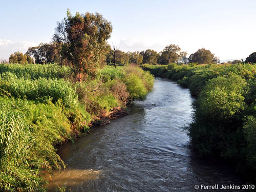 Jordan River north of the Sea of Galilee. Photo by Ferrell Jenkins.