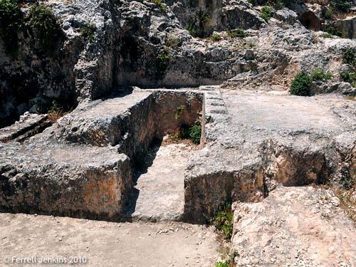 Ketef Hinnom Iron Age Tomb. Photo by Ferrell Jenkins.