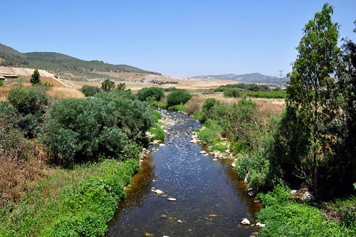 The Sorek River in the Sorek Valley near Beth-shemesh. Photo by Ferrell Jenkins.