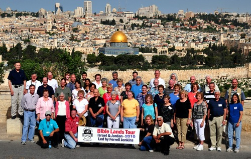 Bible Land Tour Group in Jerusalem - May 8, 2010.
