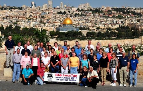 Bible Land Tour Group in Jerusalem - May 8, 2010.