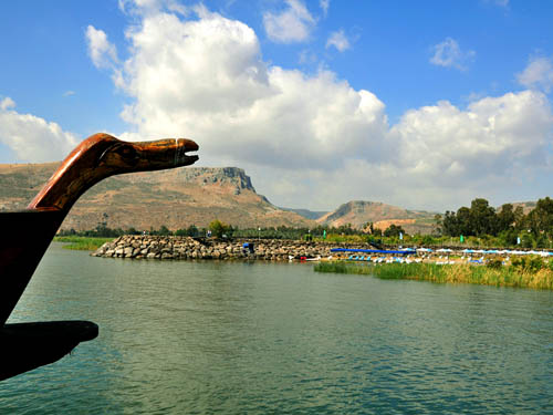 The Via Maris from the Sea of Galilee at Nof Ginosar. Photo by Ferrell Jenkins.