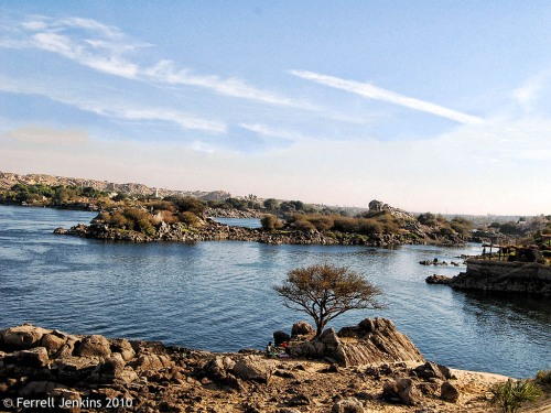 The first cataract of the Nile at Aswan. Photo by Ferrell Jenkins.