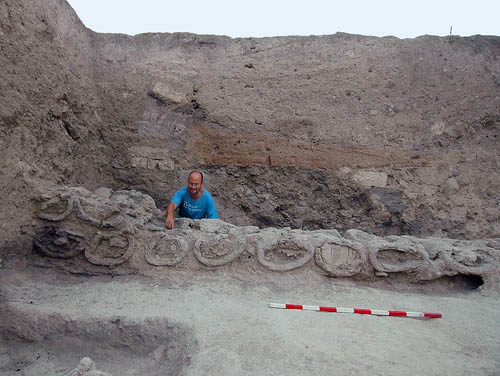 Tel Rehov. Beehives excavated in 2007.