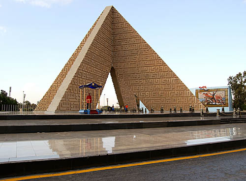 Sadat Monument in Cairo. Photo by Ferrell Jenkins.