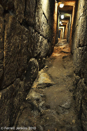 Roman Period Sewer in Jerusalem. Photo by Ferrell Jenkins.