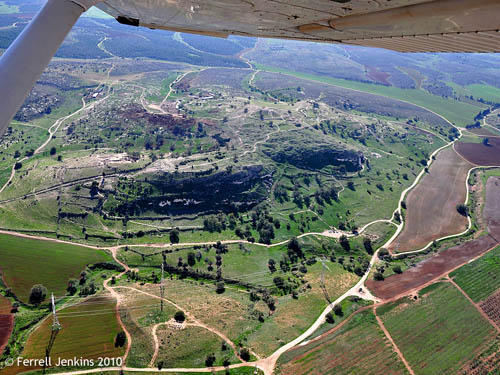 Tell es-Safi - Gath. Aerial SE view by Ferrell Jenkins.