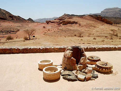 Copper smelting at Timna. Photo by Ferrell Jenkins.
