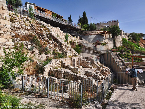 City of David from below. Photo by Ferrell Jenkins.