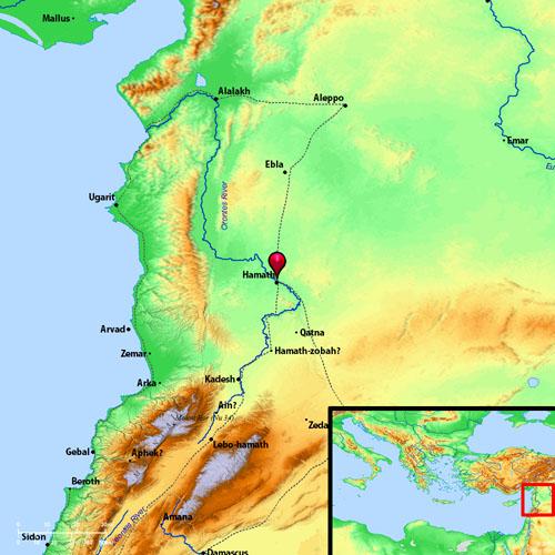 Map showing Hamath and Kedesh. BibleAtlas.org.