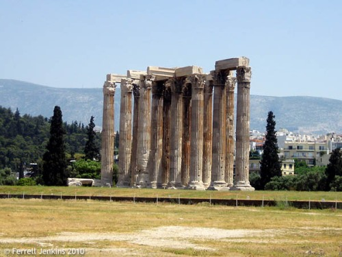 The Temple of Olympian Zeus in Athens. Photo by Ferrell Jenkins.