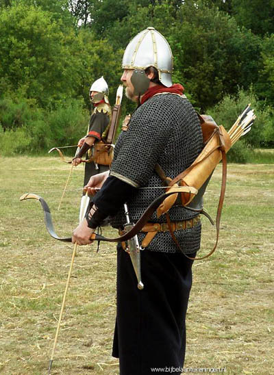 Archer from time of Seleucids. Photo by archer dressed as at the time of the Seleucids. Photo: JP van de Giessen.