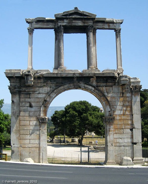 Arch of Hadrian in Athens. Photo by Ferrell Jenkins.
