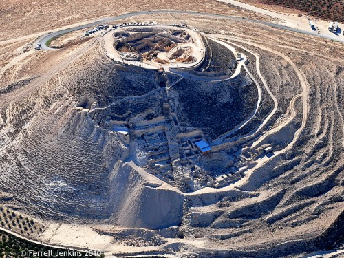 Aerial photo of the Herodium. Photo by Ferrell Jenkins.