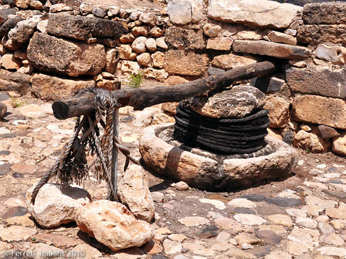 Simple Olive Press at Hazor. Photo by Ferrell Jenkins.