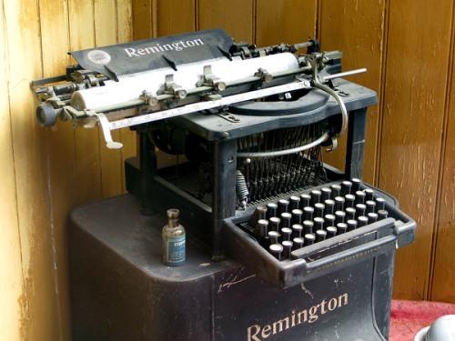 Typewriter at Ulster-American Folk Park