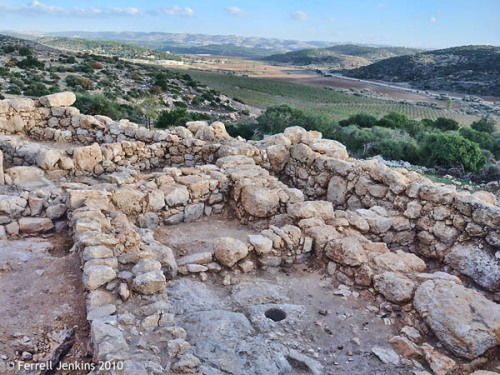 View to southeast over Elah Valley from Khirbet Qeiyafa. Photo by F. Jenkins.