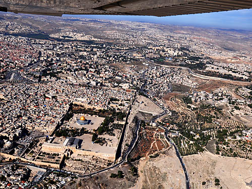 Aerial view of Jerusalem looking NE. Photo by Ferrell Jenkins.