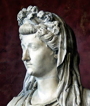 Livia, wife of Augustus, mother of Tiberius. The Louvre. Photo by Ferrell Jenkins.