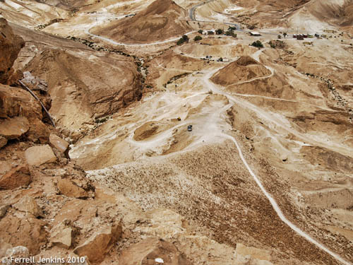 The siege ramp at Masada. Photo by Ferrell Jenkins.