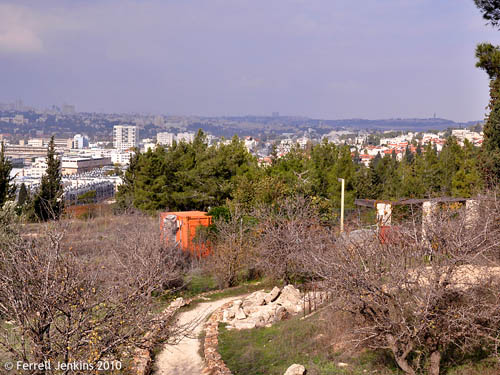 View to north of Jerusalem from Ramat Rachel. Photo by Ferrell Jenkins.