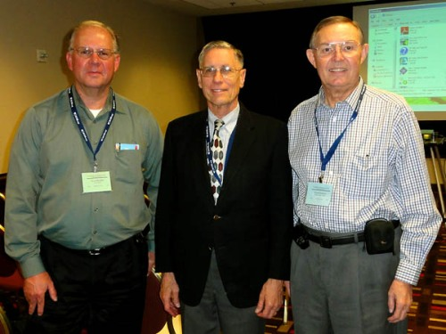 Leon Mauldin, Dr. Bryant Wood, Ferrell Jenkins at NEAS annual meeting.