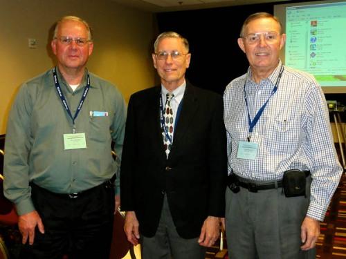 Leon Mauldin, Dr. Bryant Wood, Ferrell Jenkins at NEAS annual meeting.