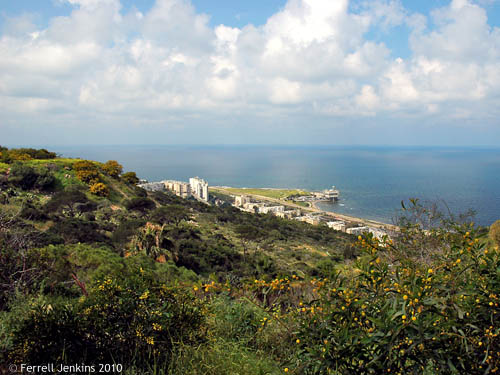 The Mediterranean Sea from Mount Carmel near Haifa. Photo by Ferrell Jenkins.