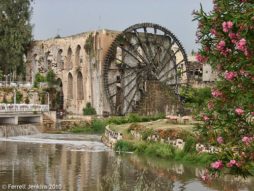 One of the Norias on the Orontes River at Hama, Syria. Photo by Ferrell Jenkins.