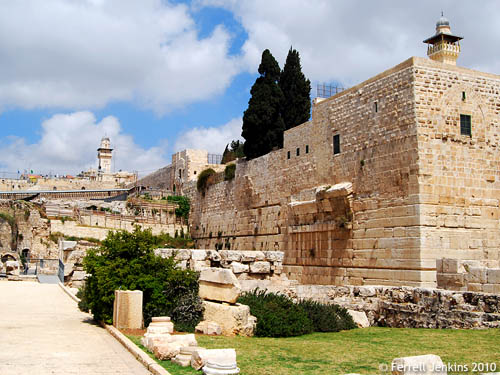 The Temple Mount Southwest Corner. Photo by Ferrell Jenkins.